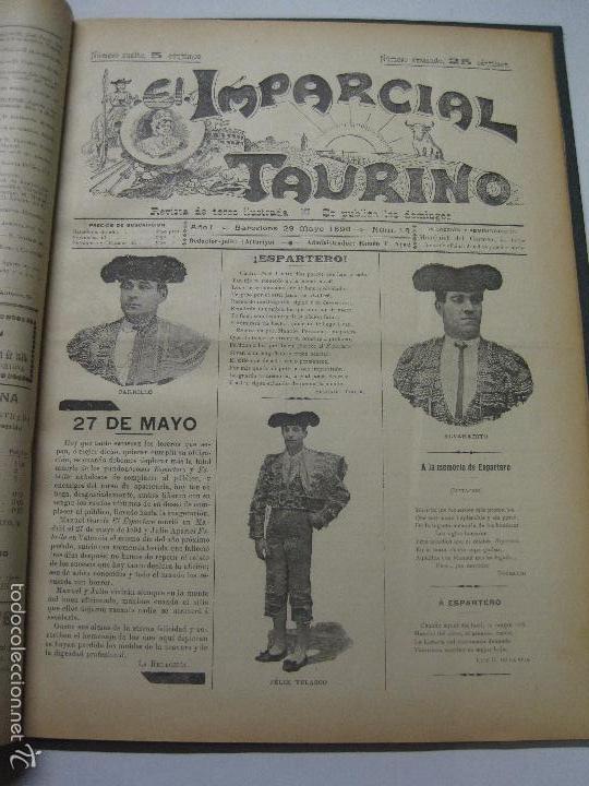 Tauromaquia: EL IMPARCIAL TAURINO -44 PRIMERAS REVISTAS- BARCELONA AÑO 1898 - VER FOTOS - MIDE 25X36CM-(V-5460) - Foto 17 - 56595975