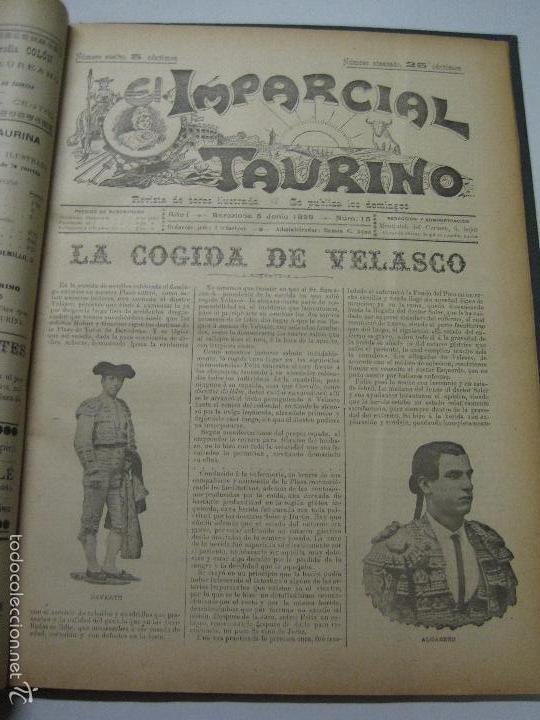 Tauromaquia: EL IMPARCIAL TAURINO -44 PRIMERAS REVISTAS- BARCELONA AÑO 1898 - VER FOTOS - MIDE 25X36CM-(V-5460) - Foto 18 - 56595975