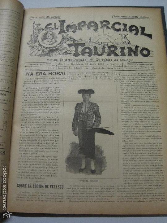 Tauromaquia: EL IMPARCIAL TAURINO -44 PRIMERAS REVISTAS- BARCELONA AÑO 1898 - VER FOTOS - MIDE 25X36CM-(V-5460) - Foto 19 - 56595975