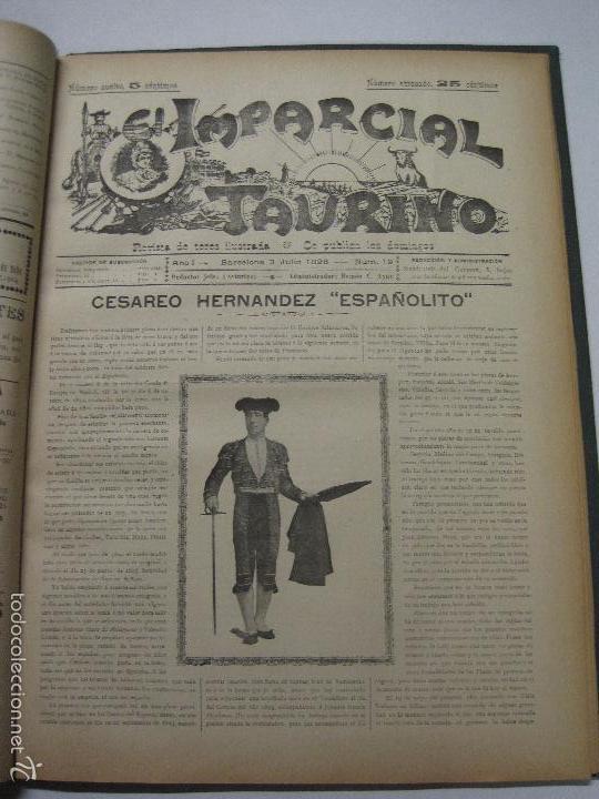 Tauromaquia: EL IMPARCIAL TAURINO -44 PRIMERAS REVISTAS- BARCELONA AÑO 1898 - VER FOTOS - MIDE 25X36CM-(V-5460) - Foto 22 - 56595975
