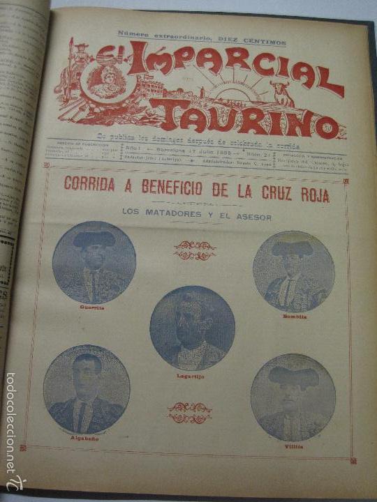 Tauromaquia: EL IMPARCIAL TAURINO -44 PRIMERAS REVISTAS- BARCELONA AÑO 1898 - VER FOTOS - MIDE 25X36CM-(V-5460) - Foto 24 - 56595975