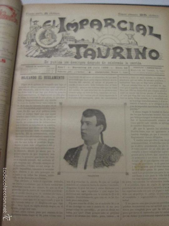 Tauromaquia: EL IMPARCIAL TAURINO -44 PRIMERAS REVISTAS- BARCELONA AÑO 1898 - VER FOTOS - MIDE 25X36CM-(V-5460) - Foto 25 - 56595975