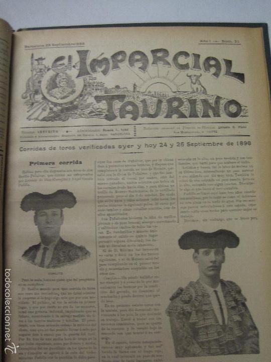Tauromaquia: EL IMPARCIAL TAURINO -44 PRIMERAS REVISTAS- BARCELONA AÑO 1898 - VER FOTOS - MIDE 25X36CM-(V-5460) - Foto 34 - 56595975
