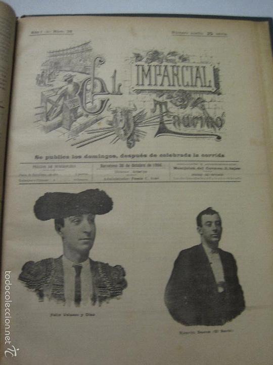Tauromaquia: EL IMPARCIAL TAURINO -44 PRIMERAS REVISTAS- BARCELONA AÑO 1898 - VER FOTOS - MIDE 25X36CM-(V-5460) - Foto 39 - 56595975
