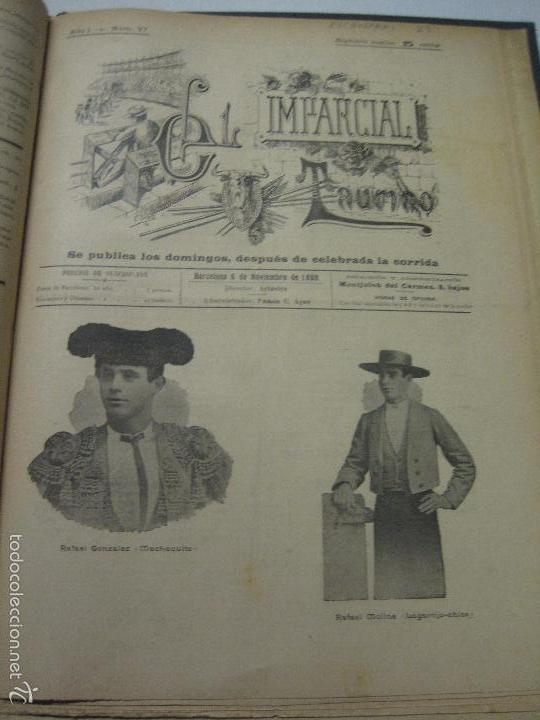 Tauromaquia: EL IMPARCIAL TAURINO -44 PRIMERAS REVISTAS- BARCELONA AÑO 1898 - VER FOTOS - MIDE 25X36CM-(V-5460) - Foto 40 - 56595975