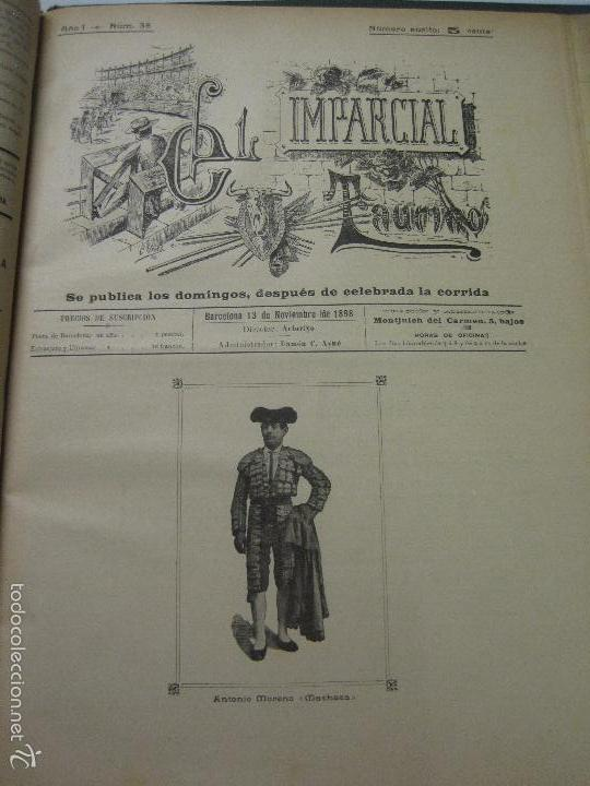 Tauromaquia: EL IMPARCIAL TAURINO -44 PRIMERAS REVISTAS- BARCELONA AÑO 1898 - VER FOTOS - MIDE 25X36CM-(V-5460) - Foto 41 - 56595975