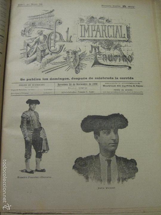 Tauromaquia: EL IMPARCIAL TAURINO -44 PRIMERAS REVISTAS- BARCELONA AÑO 1898 - VER FOTOS - MIDE 25X36CM-(V-5460) - Foto 42 - 56595975