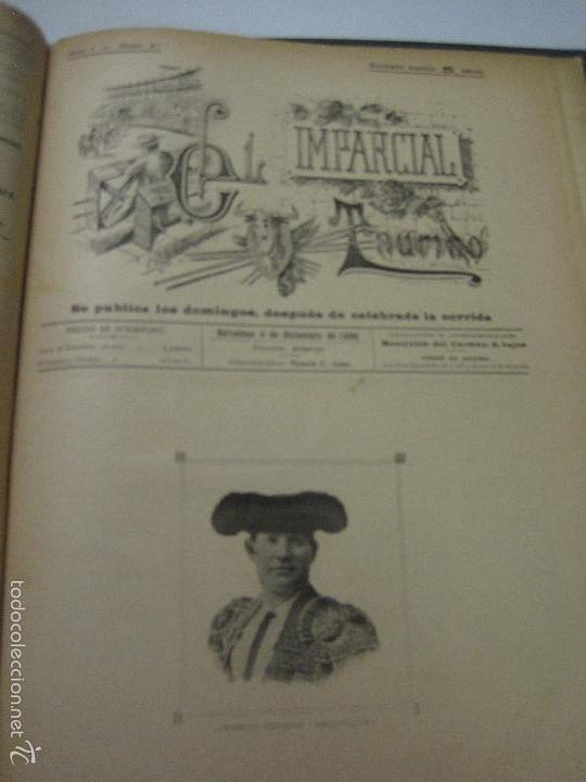 Tauromaquia: EL IMPARCIAL TAURINO -44 PRIMERAS REVISTAS- BARCELONA AÑO 1898 - VER FOTOS - MIDE 25X36CM-(V-5460) - Foto 44 - 56595975