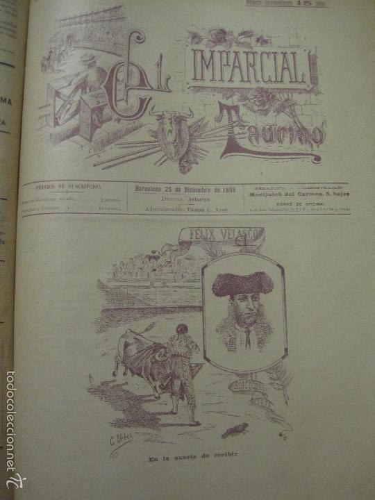 Tauromaquia: EL IMPARCIAL TAURINO -44 PRIMERAS REVISTAS- BARCELONA AÑO 1898 - VER FOTOS - MIDE 25X36CM-(V-5460) - Foto 46 - 56595975