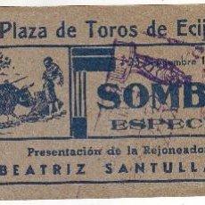 Tauromaquia: ENTRADA DE TOROS DE ÉCIJA 1940. Lote 56651850
