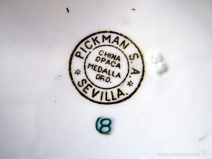 Tauromaquia: MARAVILLOSA PAREJA DE PLATOS TOROS CERÁMICA PICKMAN TOREROS SIGLO XIX - Foto 2 - 56840354