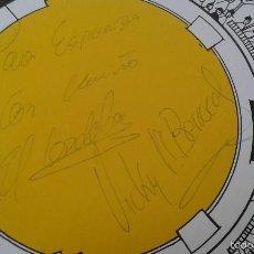 Tauromaquia: AUTÒGRAFOS DE VICKY MARTÍN BERROCAL Y DE EL CORDOBÈS --TARJETA EL BURLADERO (RESTAURANTE SEVILLANO ). Lote 56942127