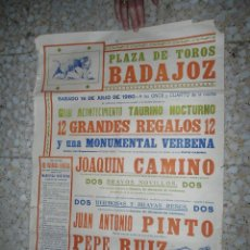 Tauromaquia: ANTIGUO CARTEL TOROS BADAJOZ - 1960. Lote 57120093