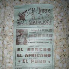 Tauromaquia: ANTIGUO CARTEL TOROS BADAJOZ - 1969. Lote 57121360