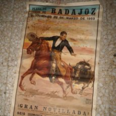 Tauromaquia: ANTIGUO CARTEL TOROS BADAJOZ - 1959. Lote 57121420