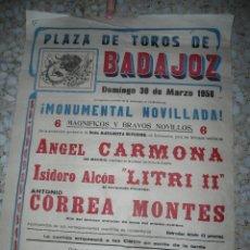 Tauromaquia: ANTIGUO CARTEL TOROS BADAJOZ - 1958. Lote 57121445