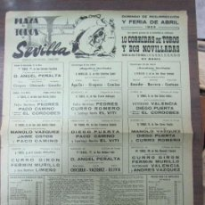 Tauromaquia: CARTEL DE TOROS. PLAZA DE TOROS DE SEVILLA. DOMINGO DE RESURRECCIÓN Y FERIA DE ABRIL. AÑO 1964.. Lote 57148990