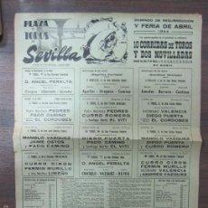 Tauromaquia: CARTEL DE TOROS. PLAZA DE TOROS DE SEVILLA. DOMINGO DE RESURRECCIÓN Y FERIA DE ABRIL. AÑO 1964.. Lote 57149014