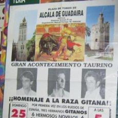 Tauromaquia: CARTEL. PLAZA DE TOROS DE ALCALA DE GUADAIRA. 1990. HOMANAJE A LA RAZA GITANA. LEER. Lote 57296478