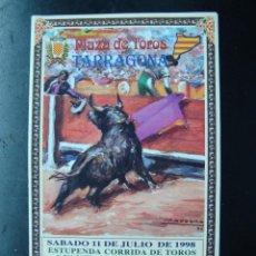 Tauromaquia: PROGRAMA FOLLETO CORRIDA TOROS TARRAGONA 1998 - JESULIN - RIVERA ORDOÑEZ. Lote 57309060