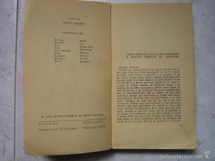Tauromaquia: Libro taurino oro y barro d el cordobés por Tico Medina 1964 - Foto 3 - 57496146