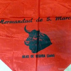 Tauromaquia: PAÑUELO DE FIESTAS TAURINAS SAN MARCOS BEAS DE SEGURA JAÉN. Lote 57553310