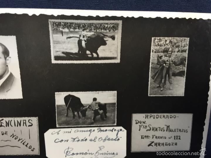 Tauromaquia: Foto postal roman encinas torero novillero novillos a mi amigo montoya foto cano madrid - Foto 3 - 58651123