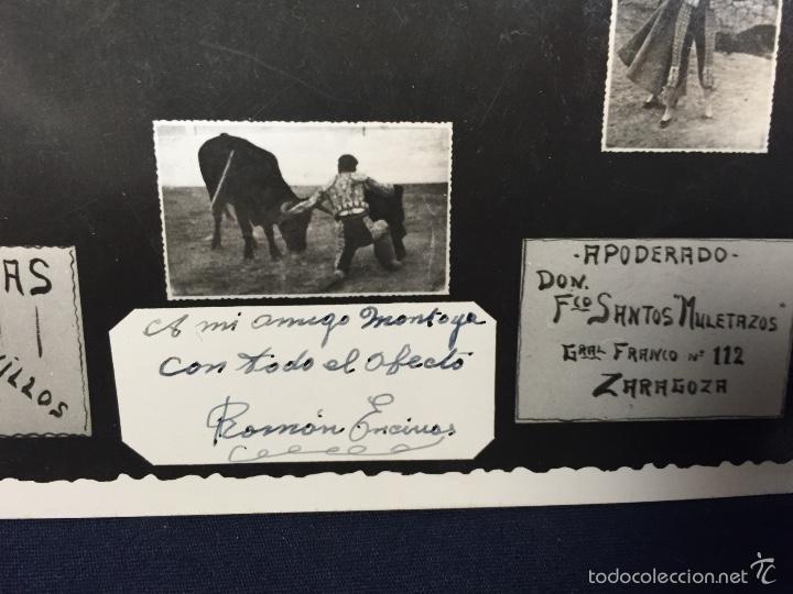 Tauromaquia: Foto postal roman encinas torero novillero novillos a mi amigo montoya foto cano madrid - Foto 4 - 58651123