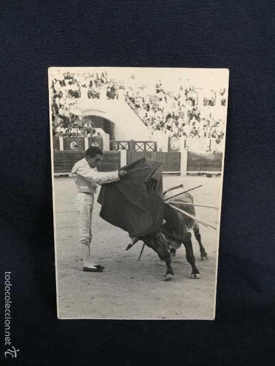 FOTO MATADOR TORERO HELIODORO PERAL EN ALBACETE 13X8,5CMS (Coleccionismo - Tauromaquia)