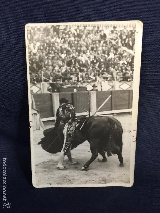 FOTO LORENZO GARCÍA TORERO PASE FOT BALDOMERO HIJO 14X9CMS (Coleccionismo - Tauromaquia)