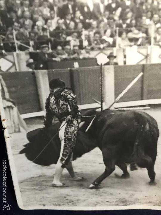 Tauromaquia: Foto lorenzo García torero pase Fot Baldomero hijo 14x9cms - Foto 2 - 58651634