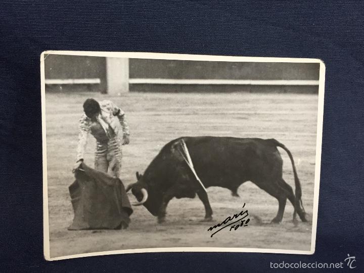 FOTO PASE DE TORERO PIMENTEL EN PLAZA EN MADRID FOT MARI 8,3X11CMS (Coleccionismo - Tauromaquia)