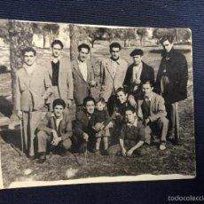 Tauromaquia: FOTO MONTOYA Y SUS AMIGOS EN DEHESA DE LA VILLA 7X9CMS. Lote 58652052