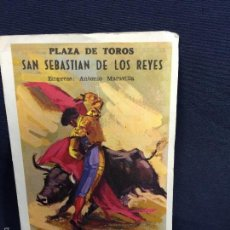 Tauromaquia: PROGRAMA TAURINO PLAZA TOROS SAN SEBASTIÁN DE LOS REYES 13X8,5CMS. Lote 58652159