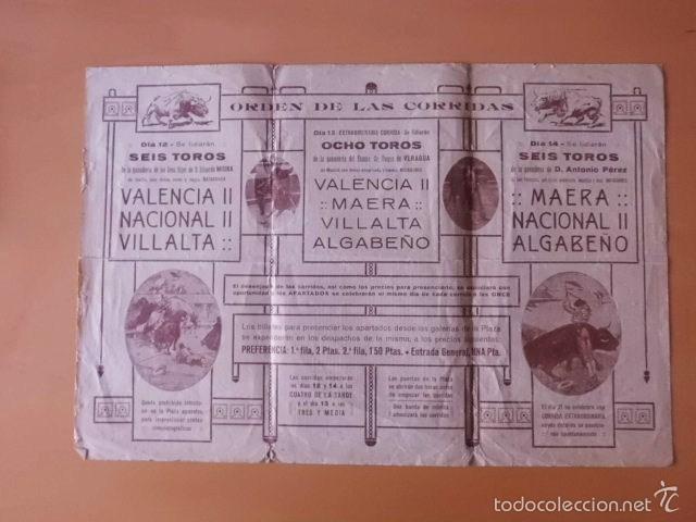 Tauromaquia: PROGRAMA TRI.DE TOROS PLAZA DE SALAMANCA. 1923. MAERA, VALENCIA II, NACIONAL II, VILLALTA Y ALBABEÑO - Foto 2 - 58744597