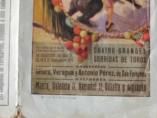 Tauromaquia: PROGRAMA TRI.DE TOROS PLAZA DE SALAMANCA. 1923. MAERA, VALENCIA II, NACIONAL II, VILLALTA Y ALBABEÑO - Foto 3 - 58744597
