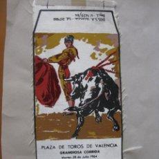Tauromaquia: CARTELITO, BANDERIN? DE TELA PLAZA DE TOROS VALENCIA 1964. PUERTA, CAMINO, CORDOBES. Lote 58746088
