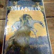 Tauromaquia: OBRAS COMPLETAS DE MARIANO DE CAVIA, NOTAS DE SOBAQUILLO, BIBLIOTECA RENACIMIENTO. Lote 59996147