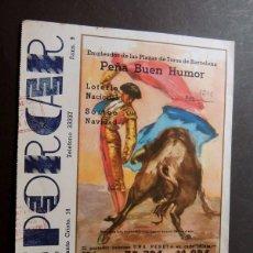 Tauromaquia: EMPLEADOS DE LAS PLAZAS DE TOROS DE BARCELONA - AÑO 1948 / PARTICIPACION LOTERIA DE NAVIDAD. Lote 60764375