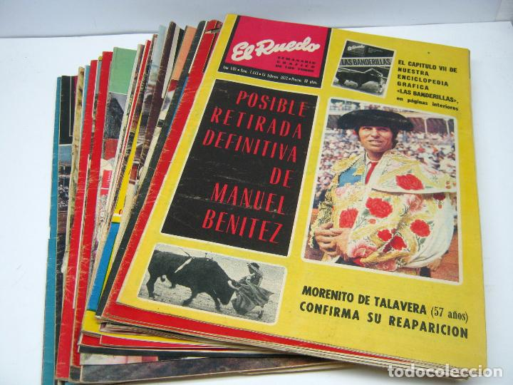 LOTE 23 REVISTAS TAUROMAQUIA EL RUEDO - AÑO 1972 PLAZAS FERIAS TOREROS SUERTES ETC (Coleccionismo - Tauromaquia)
