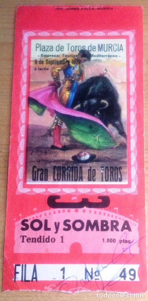 ENTRADA DE TOROS FIRMADA POR ORTEGA CANO (Coleccionismo - Tauromaquia)