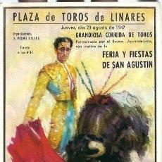 Tauromaquia: TARJETA POSTAL. CARTEL TAURINO,-MUERTE DE MANOLETE- PLAZA DE TOROS DE LINARES. DEL 28 - 8 - 1947. Lote 61783736