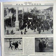 Tauromaquia: RECORTE MUNDO GRAFICO 10 MARZO 1915 NUM.176 TOROS EN SEVILLA: BELMONTE Y JOSELITO. RACING CLUB. Lote 61908320