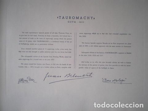 Tauromaquia: GOYA Y LUCIENTES, Francisco de: LA TAUROMAQUIA. Por Antonio de Horna López. Con 40 láminas - Foto 5 - 61993840