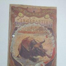 Tauromaquia: PROGRAMA TOROS SAN SEBASTIAN - VERANO 1967 - SEMANA GRANDE - TDKSM. Lote 62025616