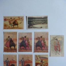 Tauromaquia: LOTE 9 POSTALES TAURINAS. CORRIDA DE TOROS. Lote 62146752