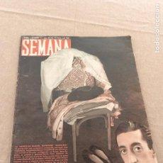 Tauromaquia: REVISTA SEMANA Nº 393. SEPTIEMBRE 1947. MUERTE DE MANOLETE. Lote 62724128