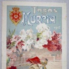 Tauromaquia: CARTEL PLAZA DE TOROS MURCIA. AÑO 1912. Lote 62999764
