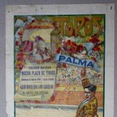 Tauromaquia: CARTEL PLAZA TOROS PALMA. 25 DE AGOSTO DE 1929. Lote 63002104