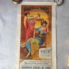 Tauromaquia: CARTEL DE TOROS - PLAZA DE REQUENA - SEPTIEMBRE DE 1916 - MALLA Y PACO MADRID. Lote 63296332